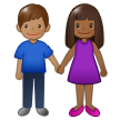 Woman and Man Holding Hands: Medium-Dark Skin Tone, Medium Skin Tone on Samsung One UI 1.5