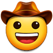 Cowboy Hat Face on Samsung One UI 2.0