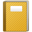 Notebook with Decorative Cover on Samsung One UI 2.0