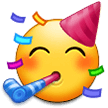 Partying Face on Samsung One UI 2.0