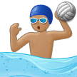 Person Playing Water Polo: Medium Skin Tone on Samsung One UI 2.0