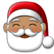 Santa Claus: Medium Skin Tone on Samsung One UI 2.0