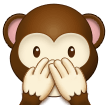 Speak-No-Evil Monkey on Samsung One UI 2.0