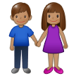 Woman and Man Holding Hands: Medium Skin Tone on Samsung One UI 2.0