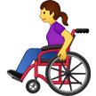 Woman in Manual Wheelchair on Samsung One UI 2.0