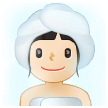 Woman in Steamy Room: Light Skin Tone on Samsung One UI 2.0