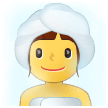 Woman in Steamy Room on Samsung One UI 2.0