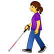 Woman with White Cane on Samsung One UI 2.0