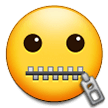 Zipper-Mouth Face on Samsung One UI 2.0
