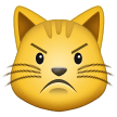 Pouting Cat on Samsung One UI 2.1