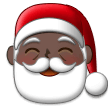 Santa Claus: Dark Skin Tone on Samsung One UI 2.1