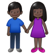 Woman and Man Holding Hands: Dark Skin Tone on Samsung One UI 2.1