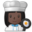 Woman Cook: Dark Skin Tone on Samsung One UI 2.1