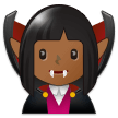 Woman Vampire: Medium-Dark Skin Tone on Samsung One UI 2.1