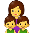 Family: Woman, Boy, Boy on Samsung One UI 2.5