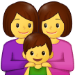 Family: Woman, Woman, Boy on Samsung One UI 2.5