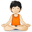 Person in Lotus Position: Light Skin Tone on Samsung One UI 2.5
