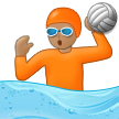 Person Playing Water Polo: Medium Skin Tone on Samsung One UI 2.5