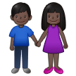 Woman and Man Holding Hands: Dark Skin Tone on Samsung One UI 2.5