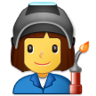 Woman Factory Worker on Samsung One UI 2.5