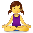 Woman in Lotus Position on Samsung One UI 2.5