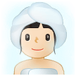 Woman in Steamy Room: Light Skin Tone on Samsung One UI 2.5