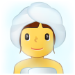 Woman in Steamy Room on Samsung One UI 2.5
