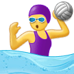 Woman Playing Water Polo on Samsung One UI 2.5