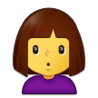 Woman Pouting on Samsung One UI 2.5
