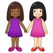 Women Holding Hands: Medium-Dark Skin Tone, Light Skin Tone on Samsung One UI 2.5