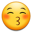 Kissing Face with Closed Eyes on Samsung One UI 3.1.1