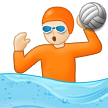 Person Playing Water Polo: Light Skin Tone on Samsung One UI 3.1.1