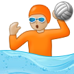 Person Playing Water Polo: Medium-Light Skin Tone on Samsung One UI 3.1.1