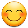 Smiling Face with Smiling Eyes on Samsung One UI 3.1.1