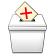 Ballot Box with X on Samsung TouchWiz Nature UX 2