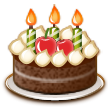 Birthday Cake on Samsung TouchWiz Nature UX 2