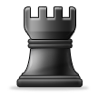 Black Chess Rook on Samsung TouchWiz Nature UX 2