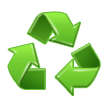 Recycling Symbol on Samsung TouchWiz Nature UX 2
