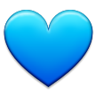 Blue Heart on Samsung TouchWiz Nature UX 2