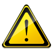 Caution Sign on Samsung TouchWiz Nature UX 2