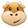 Cow Face on Samsung TouchWiz Nature UX 2