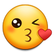 Face Blowing a Kiss on Samsung TouchWiz Nature UX 2