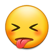 Squinting Face with Tongue on Samsung TouchWiz Nature UX 2