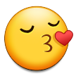 Kissing Face with Closed Eyes on Samsung TouchWiz Nature UX 2