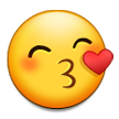 Kissing Face with Smiling Eyes on Samsung TouchWiz Nature UX 2