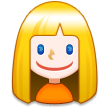 Person: Blond Hair on Samsung TouchWiz Nature UX 2