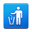 Litter in Bin Sign on Samsung TouchWiz Nature UX 2