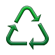 Recycling Symbol for Generic Materials on Samsung TouchWiz Nature UX 2