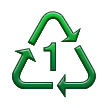 Recycling Symbol for Type-1 Plastics on Samsung TouchWiz Nature UX 2