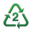 Recycling Symbol for Type-2 Plastics on Samsung TouchWiz Nature UX 2
